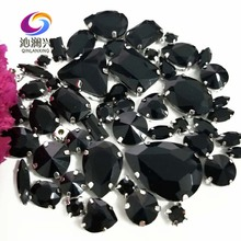 Sell at a loss!! 68pcs/pack Black Mix size high quality glass crystal material sew on claw rhinestones,diy/Clothing accessorie 10pcs k786 philip s head screw stainless steel material for diy model making and household sell at a loss usa belarus ukraine