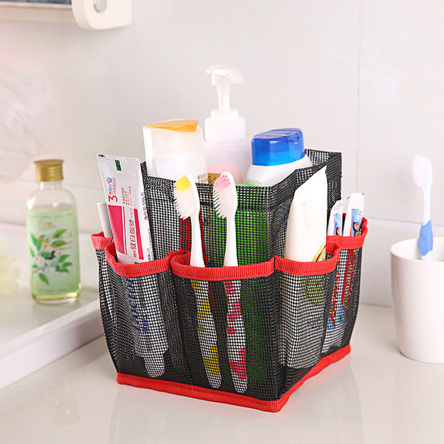 Exceptional 8 Pockets Portable Bath Bags Quick Dry Storage Bags Hanging Mesh Bathroom  Bag Shower Tote Caddy