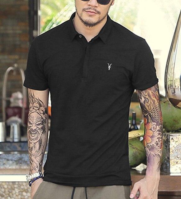 КАК Мужчины Polo Рубашка Классический Летний Стиль С Коротким Рукавом Polo Homme повседневная Твердые Мужские Polo Shirt Brands Logo Хлопка Высшего качества 2016