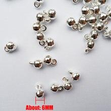 Высококачественные гладкие круглые бусины с серебряным покрытием