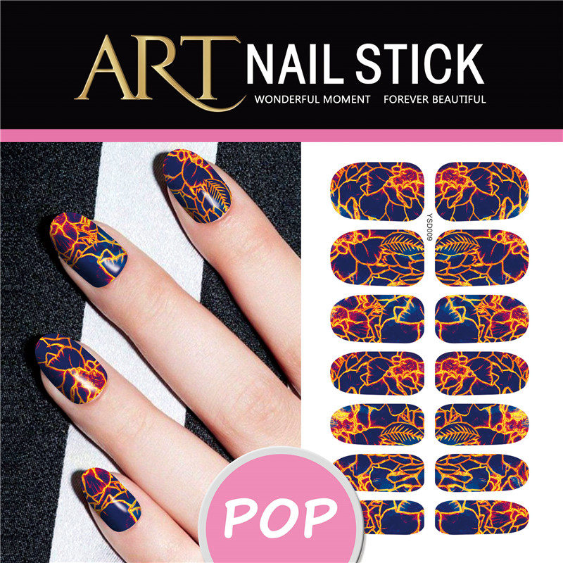 Abstract Design Nail Stickers Decoration Nail Art Sticker Spark