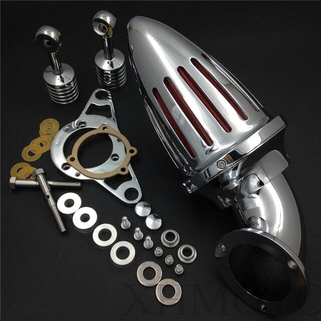 Aftermarket бесплатная доставка частей двигателя Воздухоочиститель наборы для Harley Davidson Softail Fat Boy Dyna Street Bob Wide Glide Chrome