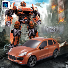 1 18 Deformation Car Transformation Robot Kids Remote Control Car Models Children Gift