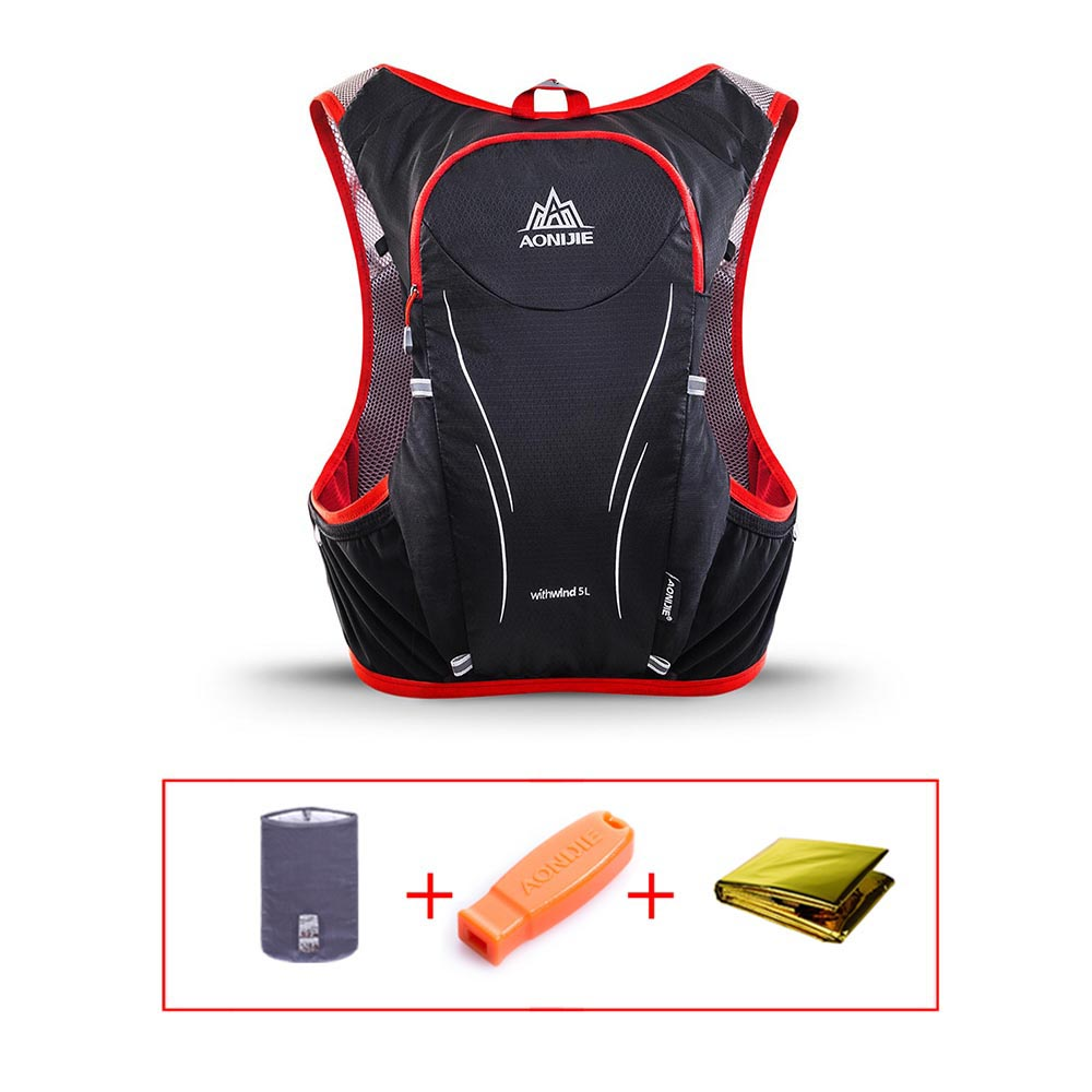 AONIJIE 5L Hydration Vest Water Bladder Backpack Outdoor Hiking Running Cycling Marathon Hydration Pack Running Vest