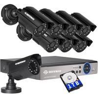 DEFEWAY 1080N HDMI DVR 1200TVL 720P HD открытый охранных камера системы 8CH товары теле и видеонаблюдения DVR 1 ТБ HDD AHD CCTV комплект