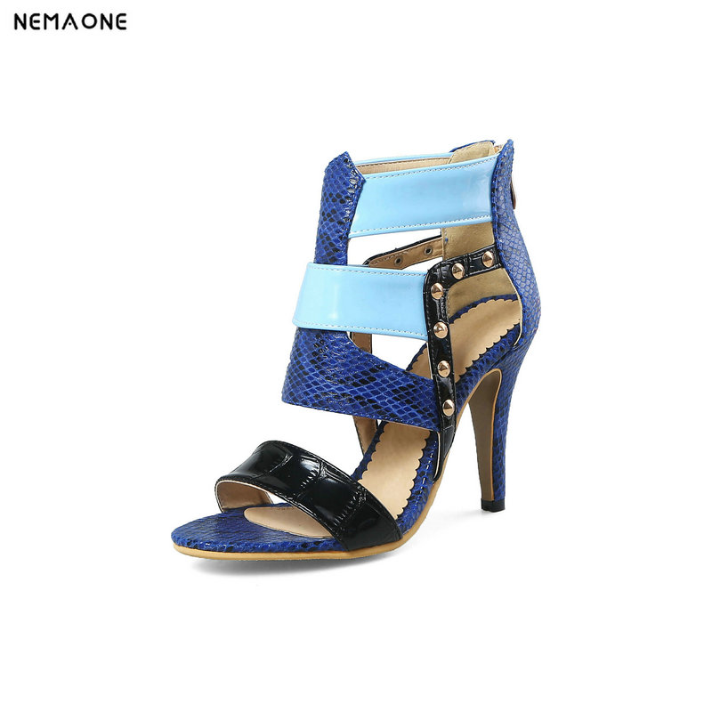 NEMAONE Sexy Women Sandals High Heels Shoes Brand Thin Heel Sandals Woman Open Toe Ankle Strap Party Shoes Female nemaone new sexy high heels sandals
