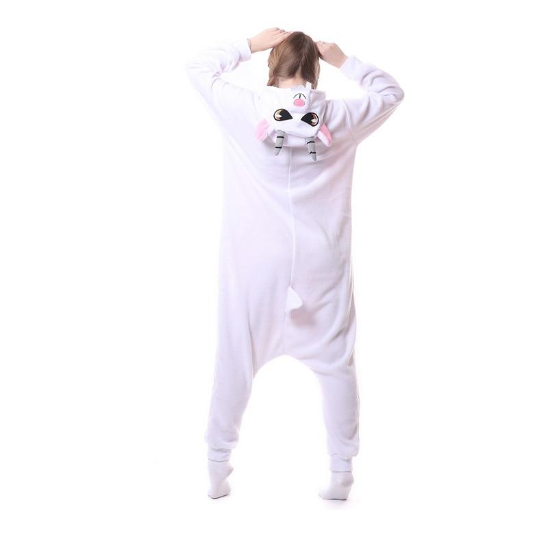 Animal jaune éléphant Kigurumi pour adulte pyjamas polaire polaire Onesie pour Halloween une-pièce combinaison siamois Cosplay Custome - 3