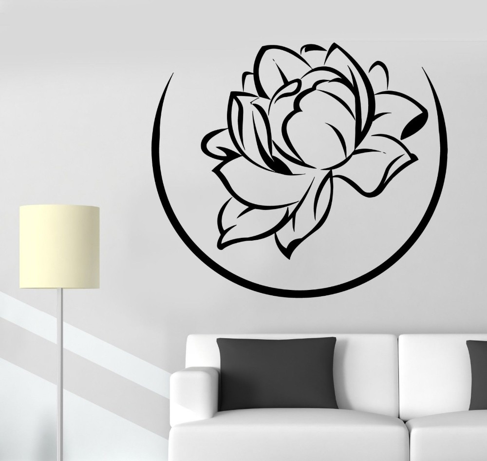 High Quality Home Decals Floral FIowers Wall Stickers Decor Vinyl Art Decoration Mural Y-359