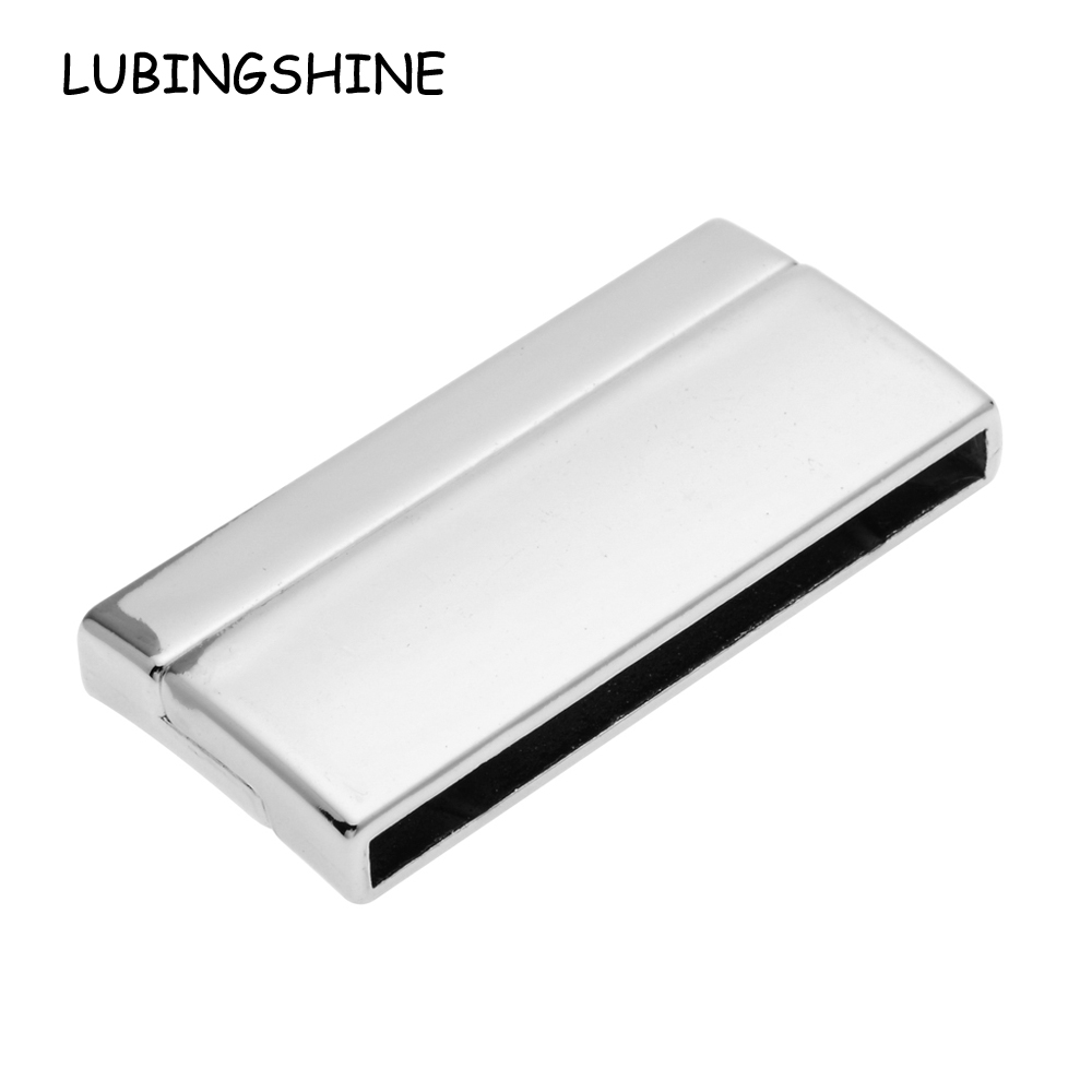 2017 5pcs/lot  Fashion Jewelry Clasps Strong Magnetic Clasp Rectangle For Flat Leather Cord Bracelet Jewelry DIY  Accessory