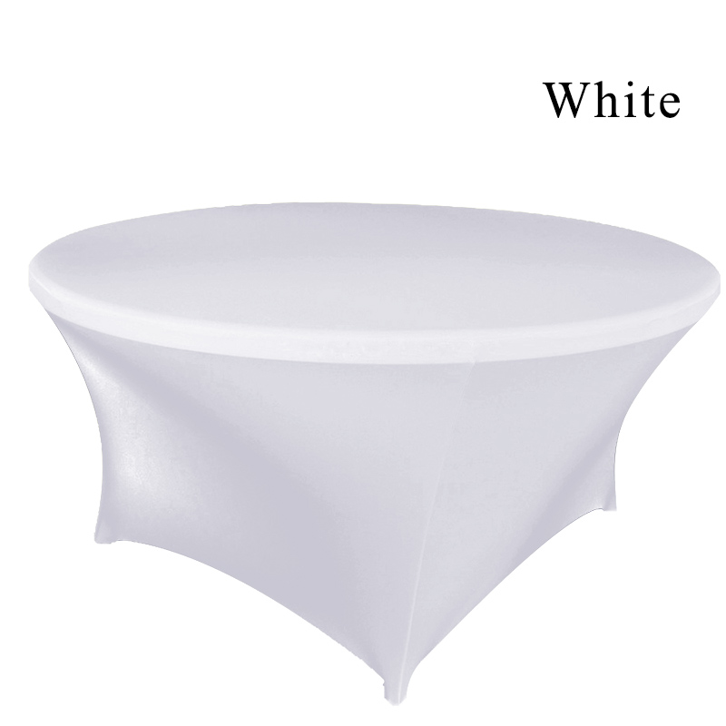 Wholesale 1pc Round White Fitted Table Cloth Universal