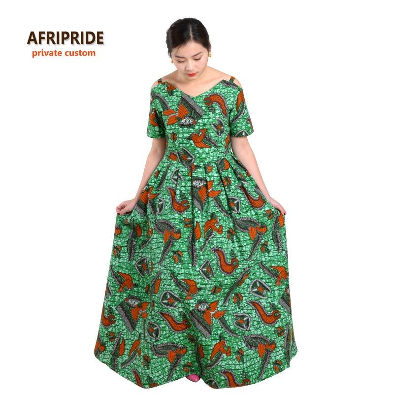 Vestidos africanos para mujer AFRIPRIDE clásico tradicional de manga - Ropa nacional
