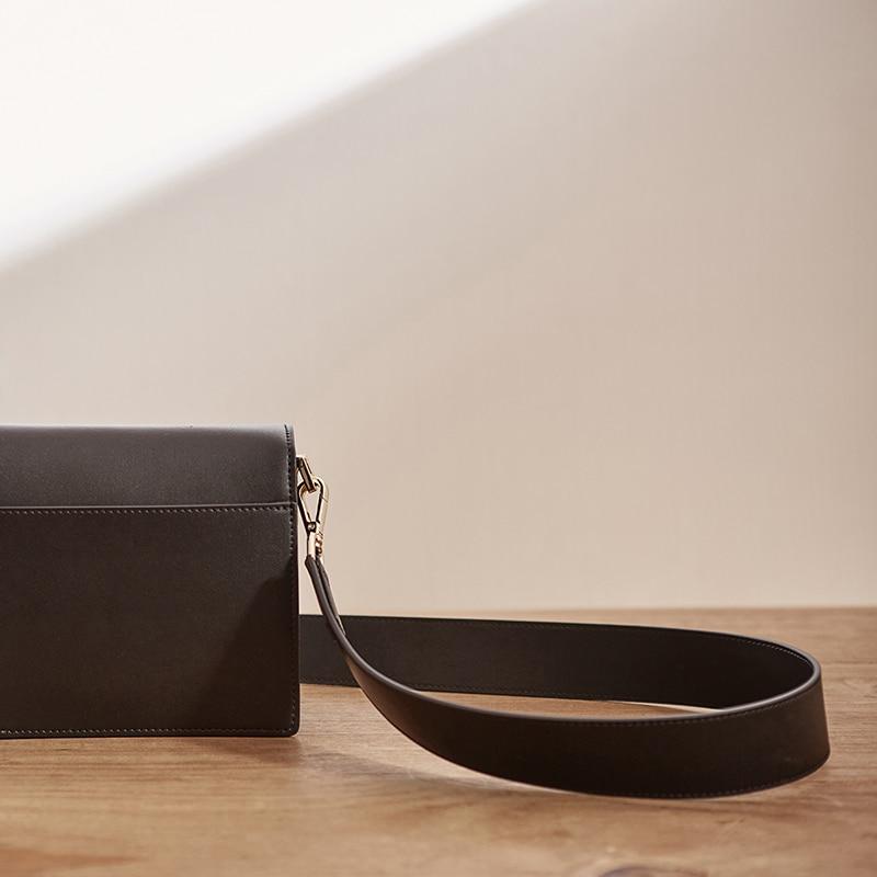 Package New Pattern Genuine Leather Single Shoulder Messenger Mini Small Square designer handbags tote vintage korean Style hot - 5