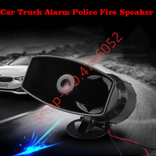 цена на 100W 12V Car Truck Alarm Police Fire Loud Speaker PA Siren Air Horn Siren Sound Signal MIC System Kit