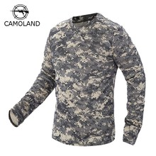2017 New Tactical Military Camouflage T Shirt Male Breathable Quick Dry US Army Combat Full Sleeve Outwear T-shirt for Men