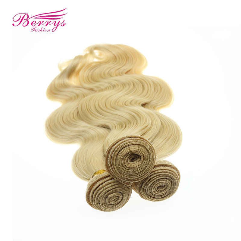 Blonde #613 Virgin Haar Body Wave 100% Human Hair 3 Bundels Body Wave Maagd Menselijk Haar Inslag Berrys Fashion