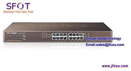 Original Tplink TL-SF1016S 10/100 M adaptante de Ethernet switch en la empresa