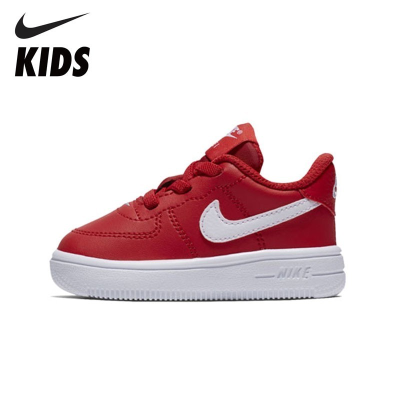 nike kids arrival air max advantage 2 tdv comfortable running shoes casual sweat absent sneaker for kids ar1819 600 NIKE Kids FORCE 1 '18 (TD) New Arrival Comfortable Sports Running Shoes Breathable Sneakers For Toddler Sweat Absorb 905220-601