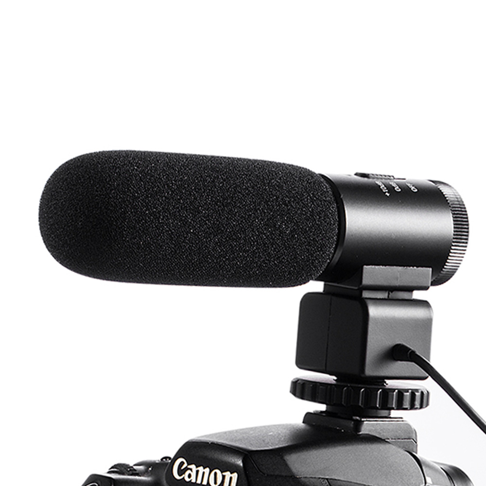 3.5mm Mic-810 Recording Microphone DV Camera Studio Digital Video Stereo Camcorder for Canon Nikon Pentax SLR Camera цена