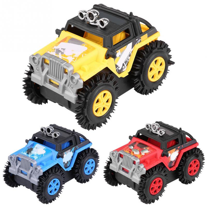 Electric Vehicles For Kids >> Us 3 73 15 Off New Arrival 1 24 Off Road Stunt Dump Electric Vehicle Rolling Toy Car For Children Kids Gift In Diecasts Toy Vehicles From Toys