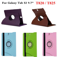 For Samsung Galaxy Tab S3 9.7 inch T820 T825 360 Degree ratating Cover PU Leather Case Tablet stand case auto sleep smart cover