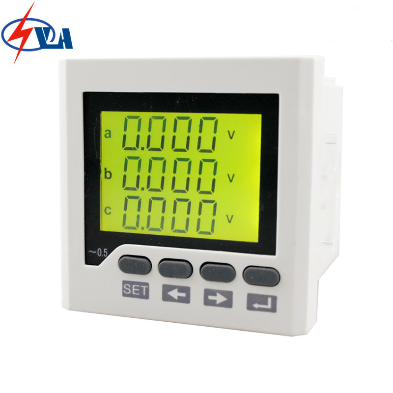 3D6Y panel size 72*72 ammeter voltmeter three phase ac lcd communication rs485 digital multifunction meter, for industrial usage 3uif23 frame size 120 120mm 3 phase ac led digital combined meter for distribution box