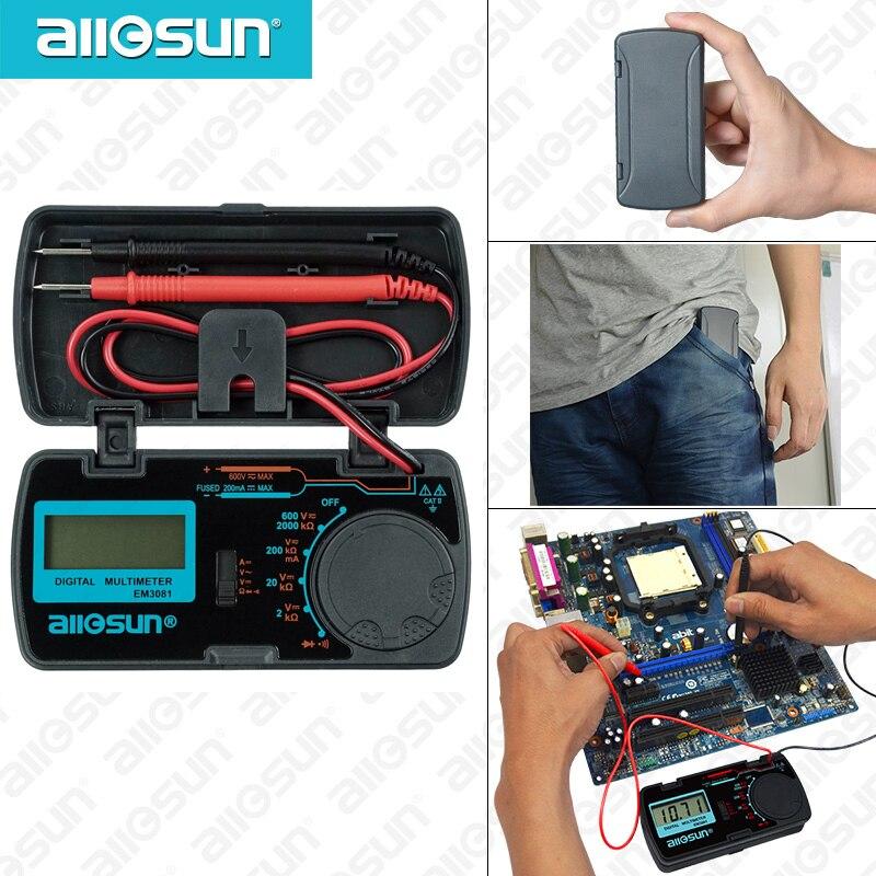 Todos sol EM3081 EM3082 multímetro Digital 3 1/2 de 1999 t de AC/DC voltímetro amperímetro Ohm portátil medidor de voltaje