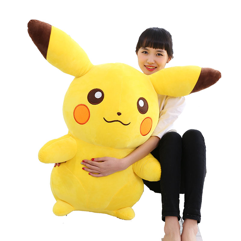 35cm Pikachu Plush Toys Children Gift Cute Soft Toy Cartoon Pocket Monster Anime Kawaii Baby Kids Toy Pikachu Stuffed Plush Doll 1744cm how to train your dragon 2 plush toy night fury toothless dragon soft plush doll toys collection gift