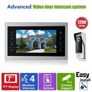 "Image 1 - Homefong 7 ""TFT 1200TVL باب مراقب فيديو إنترفون باب المنزل نظام مسجل الهاتف SD/TF بطاقة دعم مقاوم للماء غطاء للمطر"