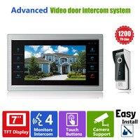 YSECU 7 TFT 1200TVL Door Monitor Video Intercom Home Door Phone Recorder System SD TF Card