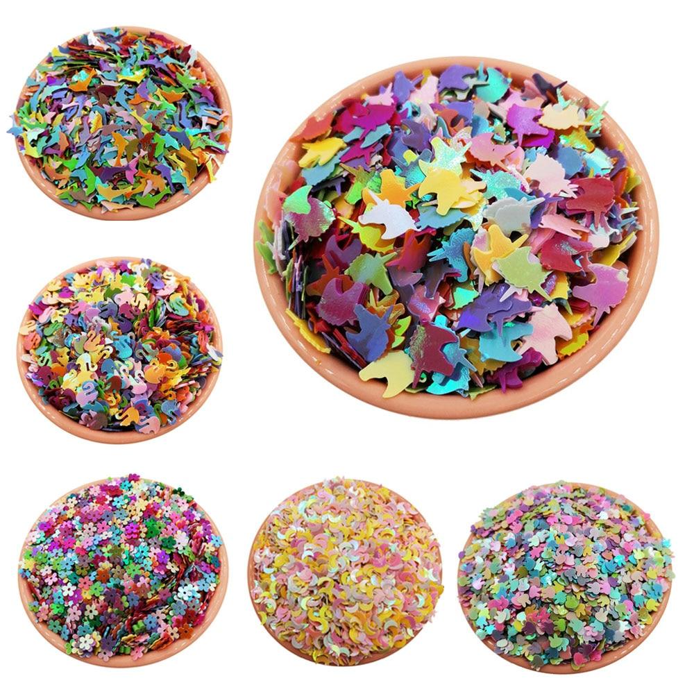 10g Glitter Sequins for Crafts Unicorn Star Sequin PET Paillettes for Nails Arts Manicure Wedding Christmas Decor Confetti