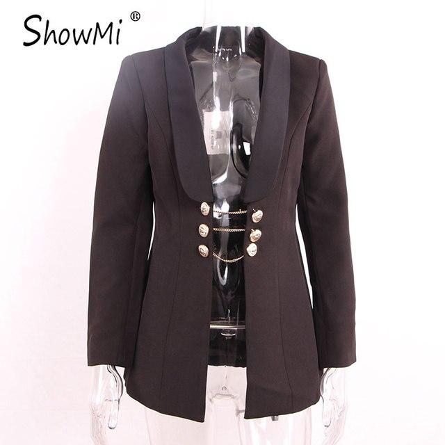 Aliexpress.com : Buy ShowMi Women Black Blazer Female High Quality ...
