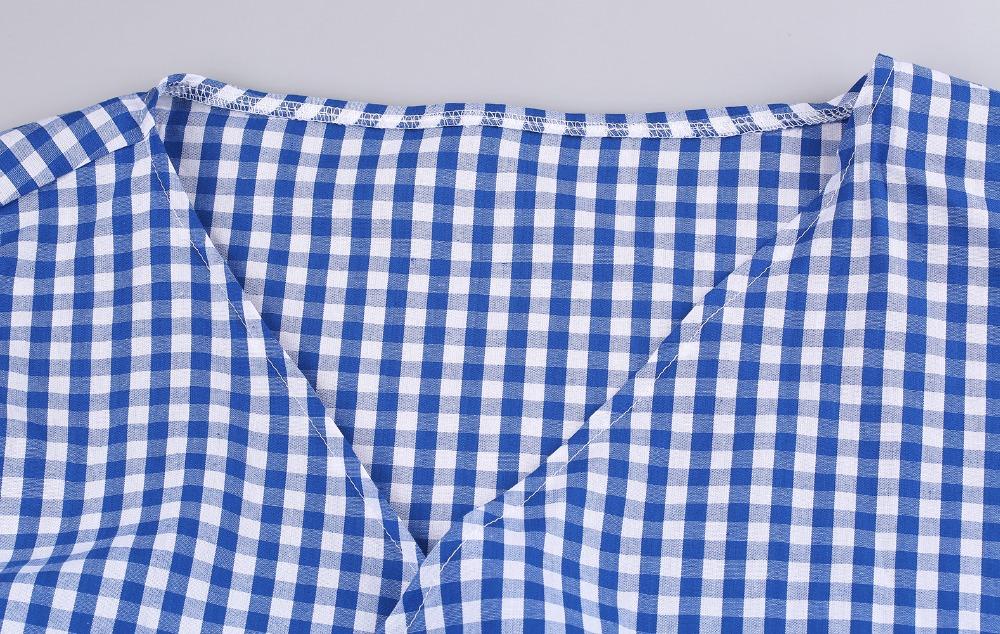 HTB1ApWvPVXXXXXDXpXXq6xXFXXXM - V-Neck Lantern Sleeve Blue Women Blouses Shirts JKP160
