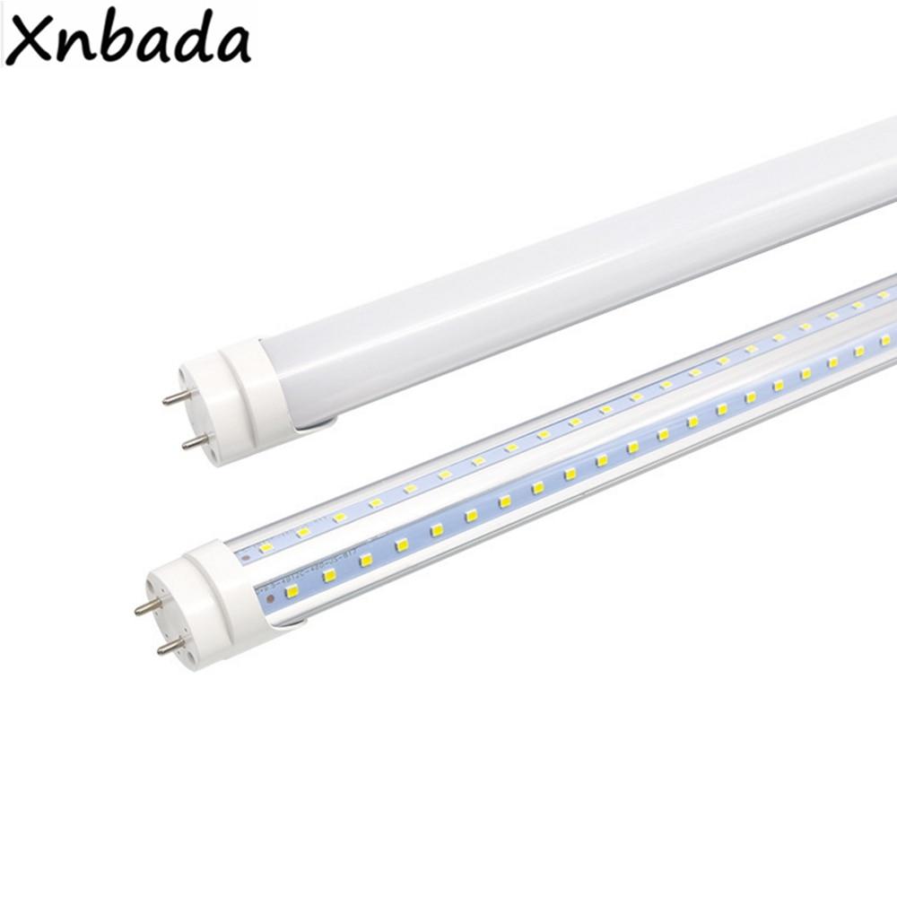 12W/18W V-Shaped T8 Integrate Led Tube 2FT Cooler Door Double Sides SMD2835 Led Fluorescent Lights 0.3m 0.6m AC85-265V