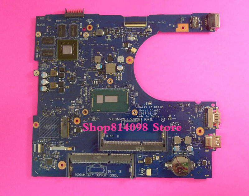 KEFU CN-0F0T2K F0T2K Fit for Dell INSPIRON 5458 5558 5758 SERIES Laptop Motherboard AAL10 LA-B843P REV:1.0(A00) 3205U mainboard ноутбук dell inspiron 5558 5558 8193