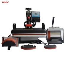 Wtsfwf 30*38 CM 5 in 1 Kombinierter Hitzepresse Drucker Maschine 2D Sublimation Vakuumhitzepressemaschine Drucker für T-shirts Kappe Becher platten