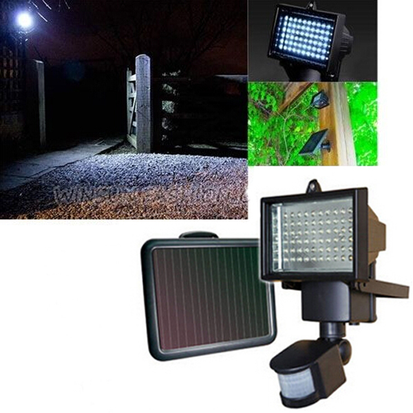 60led rechargeable solar panel security light outdoor floodlight 60led rechargeable solar panel security light outdoor floodlight lamp sunforce solar battery pir motion activated flood aloadofball Images