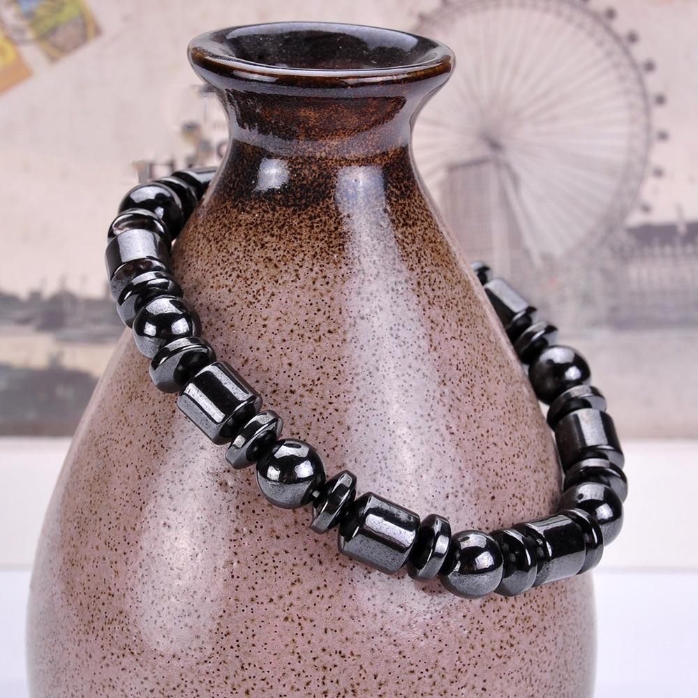 DIEZI Poids Perte Rond Noir Pierre bracelet de magnétothérapie Santé bracelet care Hommes bijoux pour femmes Bracelets Bracelets