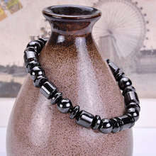 DIEZI Weight Loss Round Black Stone Magnetic Therapy font b Bracelet b font Health Care font