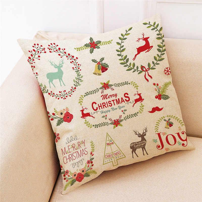 عيد الميلاد ديكور المنزل غطاء الوسادة رمي المخدة وسادة يغطي طباعة كيس وسادة الاريكة البوليستر سيارة غطاء وسادة المنزل ديكور