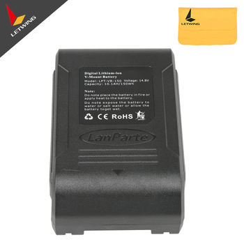 UPS Free shipping!!! 14.8V 150Wh Lanparte V-Mount Li-ion Battery with D-Tap LCD Screen for DSLR Camera and V-mount Battery Pinch
