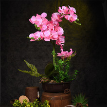 Creative Artificial Flower Plant Potted Bonsai Gift Fake Butterfly Orchid Flowers Plants For Wedding Home Decor Free Shipping
