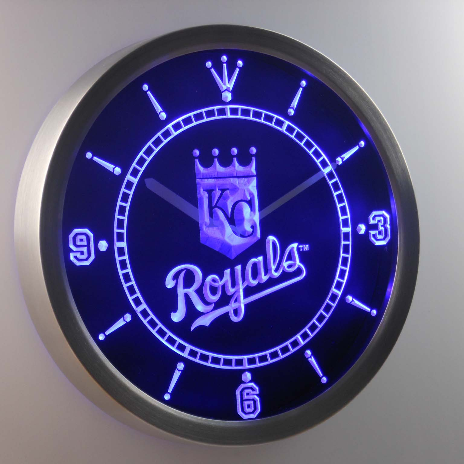 Nc0557 Kansas City Royals Enseigne Au Néon Horloge Murale LED