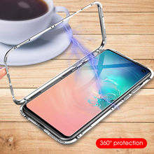 Magnetic Adsorption Metal Phone Case For Samsung Galaxy S10 Plus S8 S9 Plus S10Plus S10 Luxury Ultra Magnet Glass Back Cover(China)