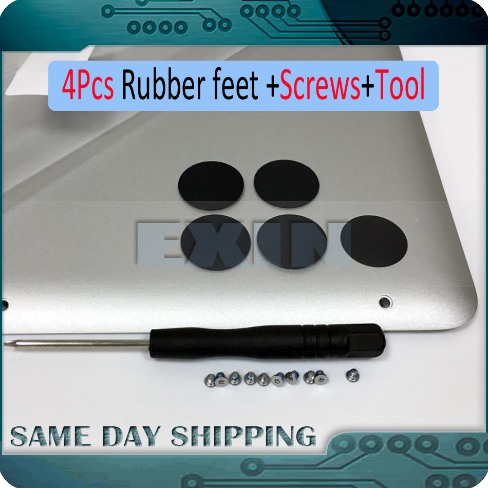 OEM New 4Pcs Bottom Feet Lower Case Rubber+10Pcs Screws for Macbook Pro Retina 13 15 A1398 A1425 A1502 2012-2015 Year new original for lenovo thinkpad yoga 260 bottom base cover lower case black 00ht414 01ax900