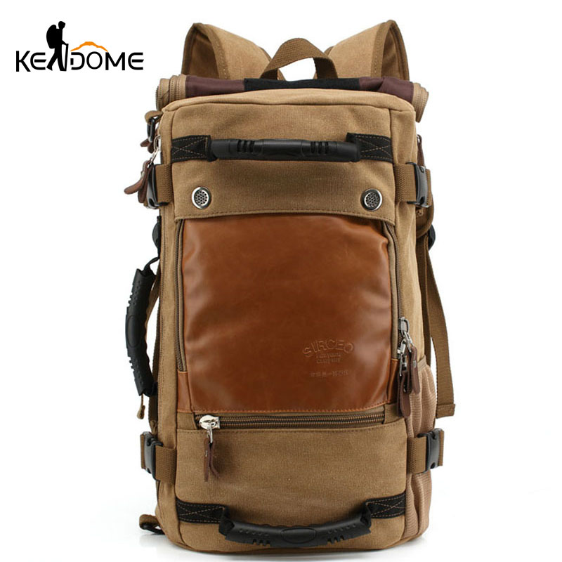 New Canvas Outdoor Mountaineering Backpacks Men's Large Capacity Travel Bags Durable Hiking Camping Rucksack Mochila XA118WD 2016 70l unisex large capacity mountaineering backpack travel bags rucksack men s outdoor camping hiking backpacks sport bag