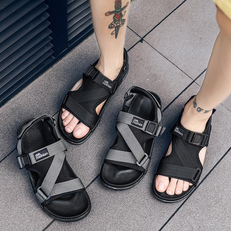 Men Sandals Gladiators Casual Roman Shoes Outside Breathable Mens Sandals Summer Comfortable Light Sandalias Hombre Plus Size 46(China)