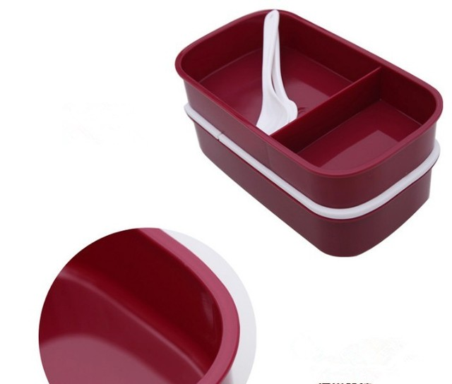 Large Capacity Lunch Box with Two Separated Sections
