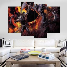 Canvas HD Print Painting Modular Pictures One Set 4 Panel Venom Vs Riot Movie Wall Art Poster Modern Home Decor Living Room