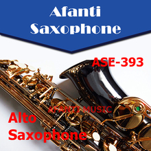 Afanti Music Eb tone / Brass body / Gold finish Alto Saxophone (ASE-393)