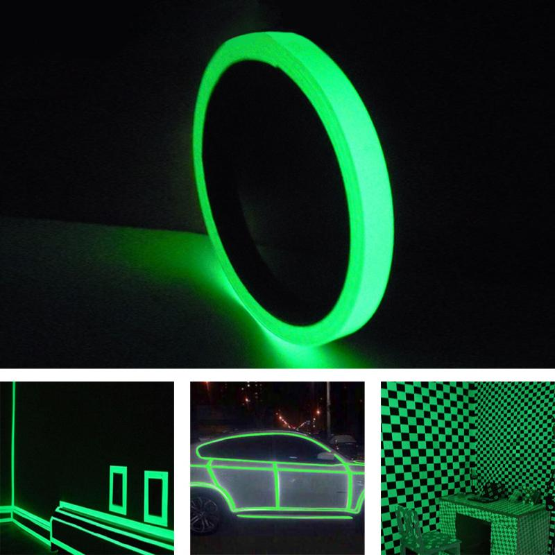 1cm*10M Waterproof Luminous Tape Glow In The Dark Safety Stage Home Decorations Self-adhesive Night Warning Security Car Tapes
